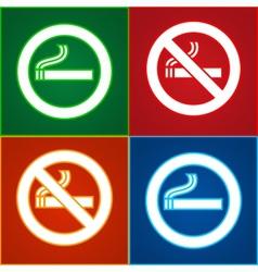 No smoking area labels vector image