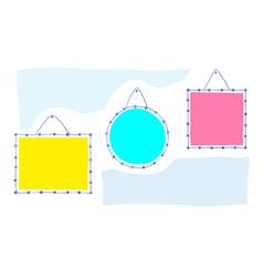 Photo frames vintage doodle style frame set vector