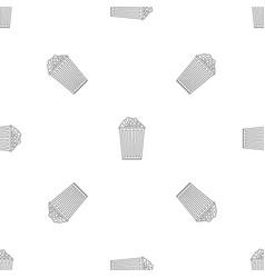 popcorn box pattern seamless vector image