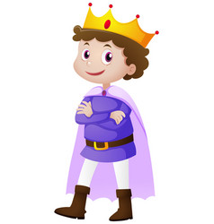 Prince in blue costume vector