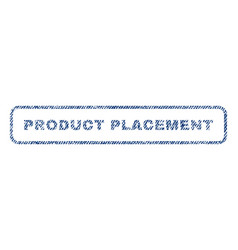 Product placement textile stamp vector