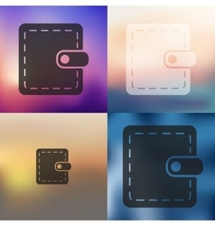 Purse icon on blurred background vector
