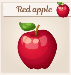 Red apple fruit cartoon icon series vector