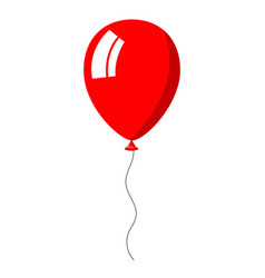 red balloon on white background vector image