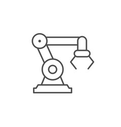 robotic industry line outline icon vector image