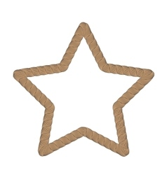 Rope Creative Ornamental Star Frame vector