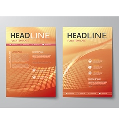 Set of abstract business magazine cover vector