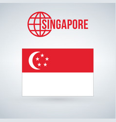 singapore flag isolated on modern background with vector image