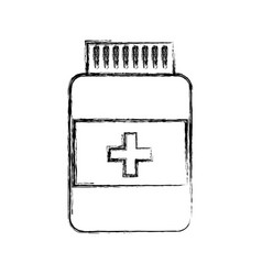sketch draw pill bottle vector image