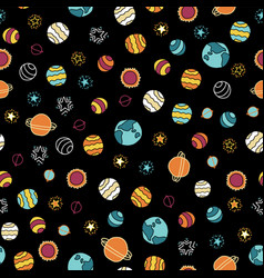 space galaxy seamless background vector image