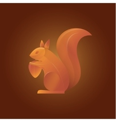 squirrel in shades of orange vector image