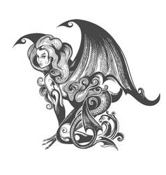 Succubus demon vector
