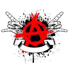 Symbol anarchy and gesture hands vector