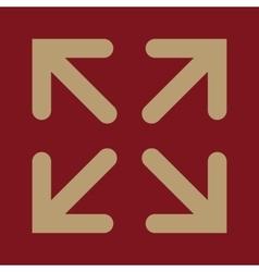 The full screen icon Arrows symbol Flat vector