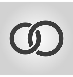 The United wedding ring icon Marriage and glans vector