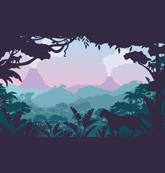 tropical jungle flat vector image