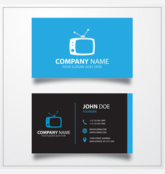 Tv icon business card template vector