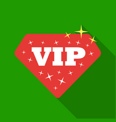 vip icon in flat style isolated on white vector image