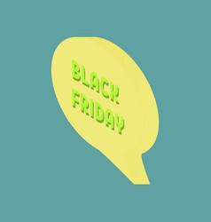 web banner for black friday sale modern billboard vector image