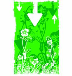 white foliage green grunge back vector image