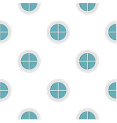 White round window pattern flat vector