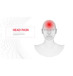 woman with headache isolated vector image