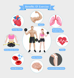 benefits of exercise diagram vector image vector image