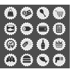 grocery store icon set vector image vector image