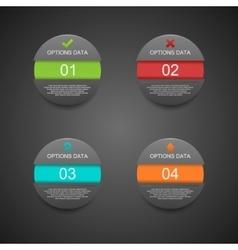 Modern Sphere Infographics Black Origam Style vector image