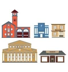 set of public buildings vector image vector image