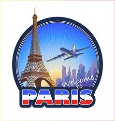 Travel Paris 2 vector image vector image