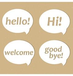 Eco Speech Babble vector image