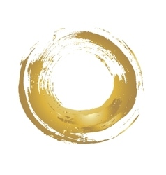 Golden grunge circle vector image