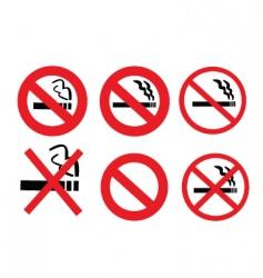 2008185 no smoking sign 3 vector image vector image