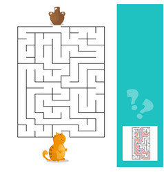 cartoon - maze or labyrinth game for vector image vector image