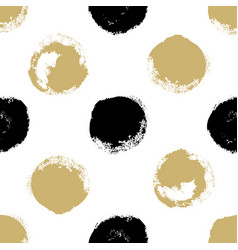 decorative seamless pattern with brush drawn vector image