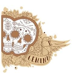 Engraving gemini vector