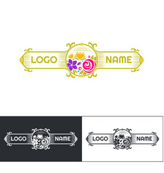 many flowers logo five vector image vector image