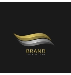 Wave logo template vector image