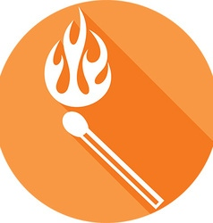 Burning Match Icon vector image