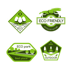eco city park label for ecology and nature design vector image