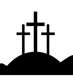 good friday isolated icon vector image