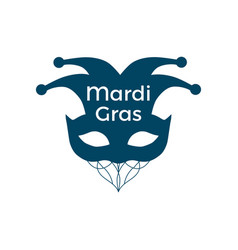 mardi gras carnival mask on a white background vector image vector image