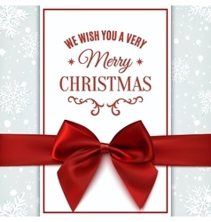We wish you Merry Christmas greeting card vector image vector image