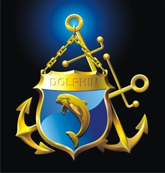 with two anchors vector image
