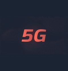 5th generation internet vector image