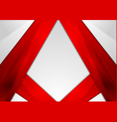 abstract red modern tech corporate background vector image