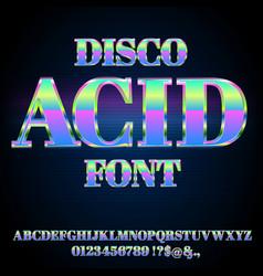 acid house font vector image
