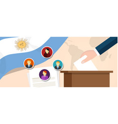 argentina democracy political process selecting vector image