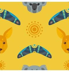 Australia flat pattern vector image